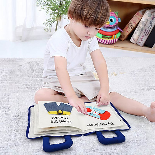 Montessori Toys for Kids 1 Year Old Baby Books Learning Education 3D Quiet