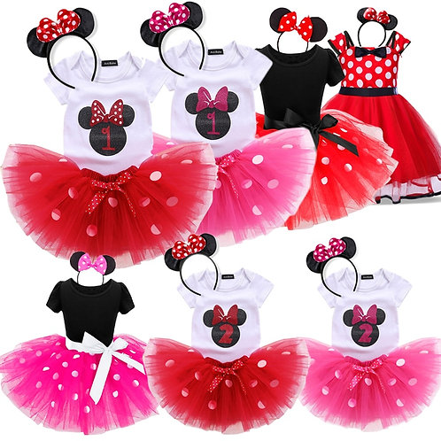 Dots Baby Girls Dress 1st Birthday Outfit Fancy Tutu Dresses Girl Infant Costume