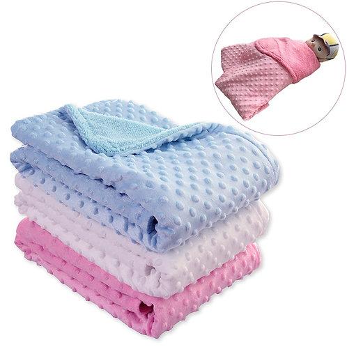 Baby Blanket & Swaddling Newborn Thermal Soft Fleece Blanket Winter Solid
