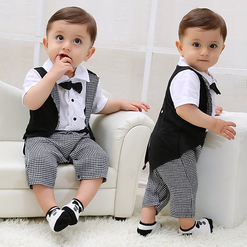 Baby Boy Clothes Baby Suits Toddler Baby Boys Gentleman Bowtie