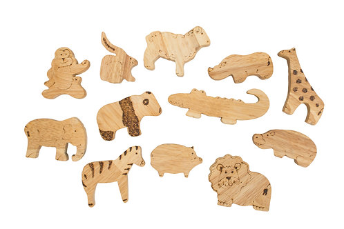 QToys Australia (USA) AFRICAN ANIMALS SET OF 12