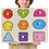Thumbnail: Montessori Wooden Puzzles Hand Grab Boards Toys Tangram Jigsaw Baby Educational