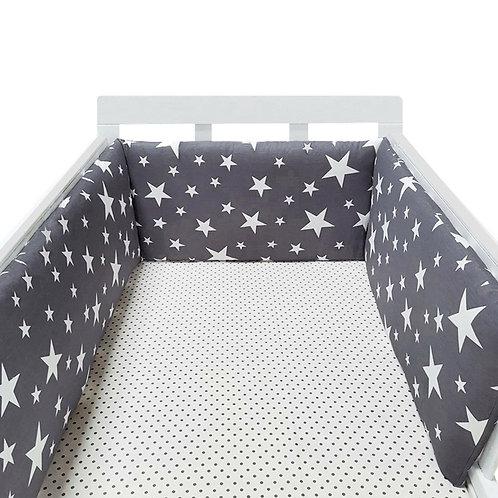 Baby Nursery Nordic Stars Design Baby Bed Thicken Bumper One-Piece Crib Around