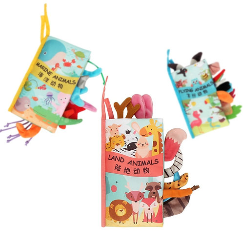 Baby Book Soft Cloth Books for Newborns 0 12 Months Baby Toys Educational Soft