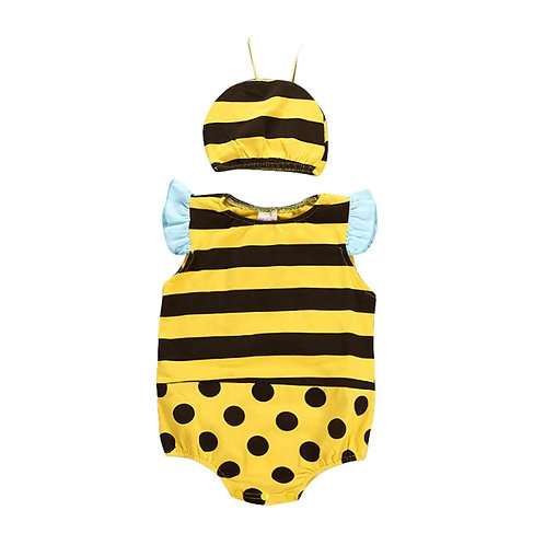 Unisex Infant Baby Sleeveless Triangle Romper Lovely Little Bee Costume Boys