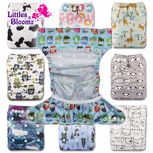 [Littles&Bloomz] 2019 New Baby One Size Reusable Cloth NAPPY Cover Wrap to Use