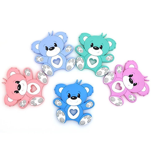 Kovict BPA Free 1PC Bear Silicone Baby Teether Rodent Baby Teething Toy Chewable