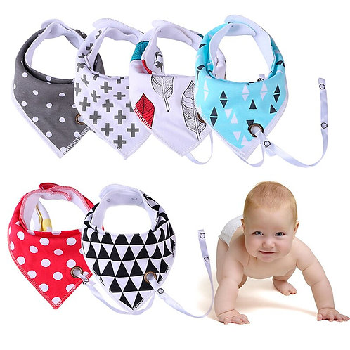 Triangle Cotton Baby Toddler Bibs Saliva Skin-Friendly Towel Boys Girl Feeding
