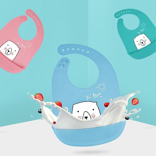 Waterproof Silicone Feeding Baby Bibs Newborn Cartoon Apron Kids Toddler