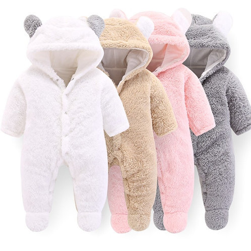 Newborn Baby Winter Clothes Infant Baby Girls Clothes Soft Fleece