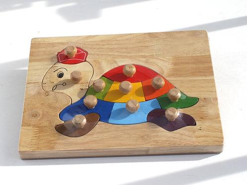 QToys Australia (USA) LITTLE TURTLE KNOB PUZZLE