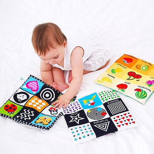 Baby Toys for Newborn Soft Cloth Book 0-12 Months Kids Learning Educational