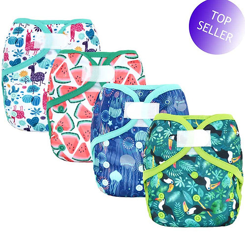 Happy Flute OS Baby Cloth Diaper Cover With or Without Bamboo Insert,waterproof