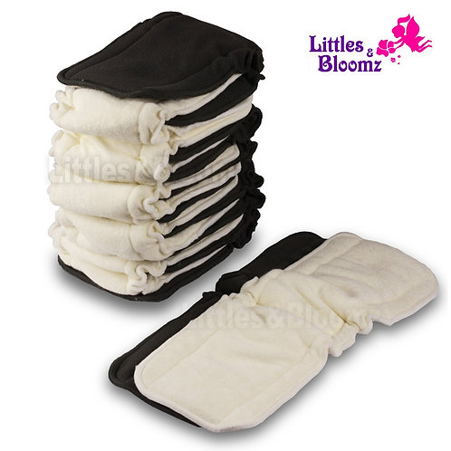 [Littles&Bloomz] Baby Bamboo Reusable Cloth Diaper Inserts Charcoal Washable