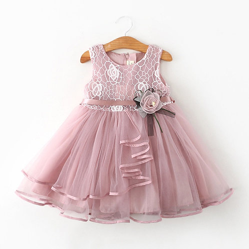 Flower Newborn Baby Dress New Summer Cute Baby Girls Clothes Tulle Lace Infant