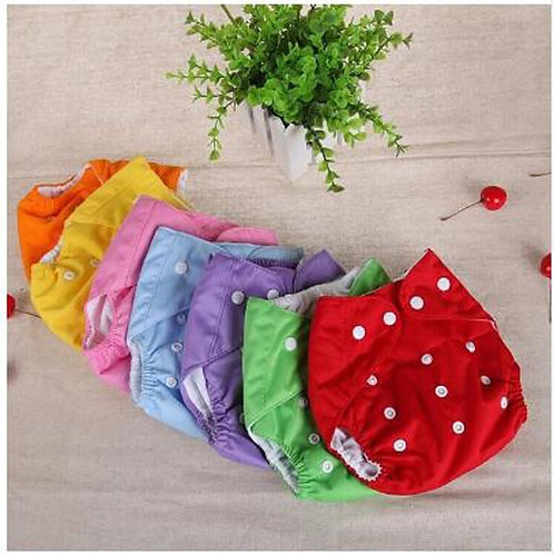 Baby Diaper Washable Reusable Nappie Grid/Cotton Training Pant Cloth Diaper Baby
