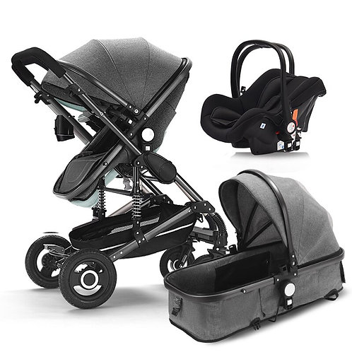 3 in 1 Baby Stroller for Newborns High Travel System Baby With Car Seat