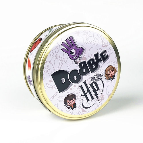 New Dobble Spot It Card Game Toy Iron Box Hermione