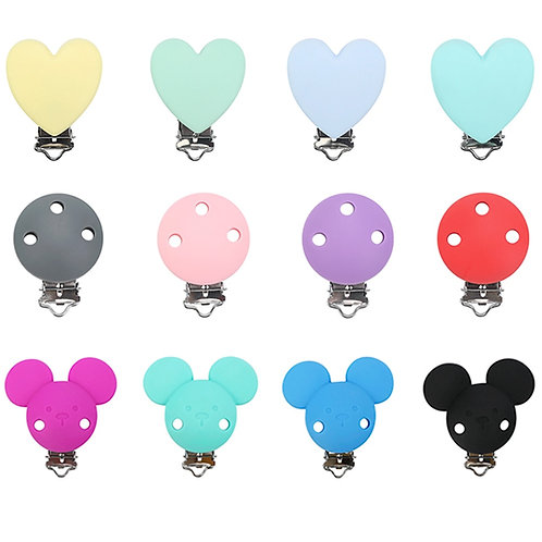 1pc Mickey Silicone Pacifier Clip DIY Baby Teething Teether Necklace Bead  Nurs