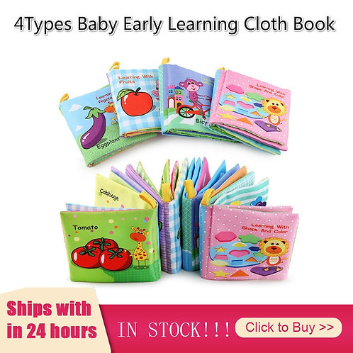 Kids Books Baby Early Learning Tearing Tail Cloth Book Parent-Child Interactive