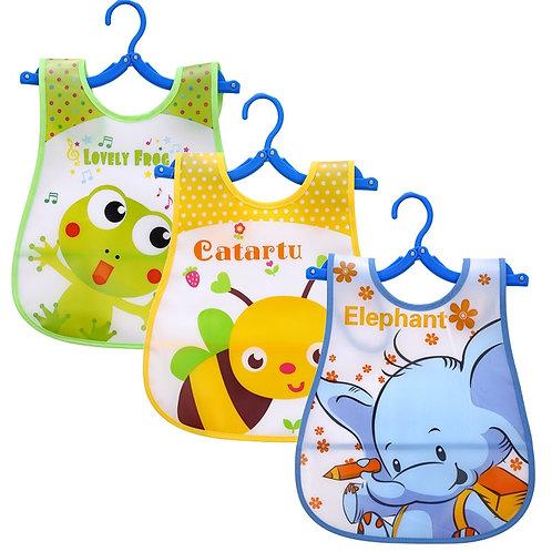 3 PCS/Lot Waterproof Baby Bibs for Infant Toddler Boys Girls Sleeveless