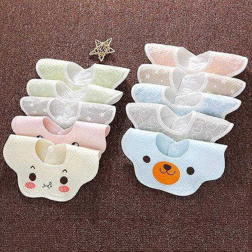 Newborn Baby Burp Cloths Waterproof Bibs Lovely Saliva Bib Cartoon
