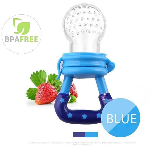 Baby Food Feeder With Pacifier Clip Holder Infant Baby Teether Fruit Feeder