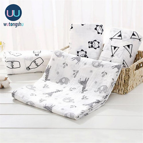 Muslin Swaddles Baby Blankets Photography Accessorie Bedding for Newborn Swaddle