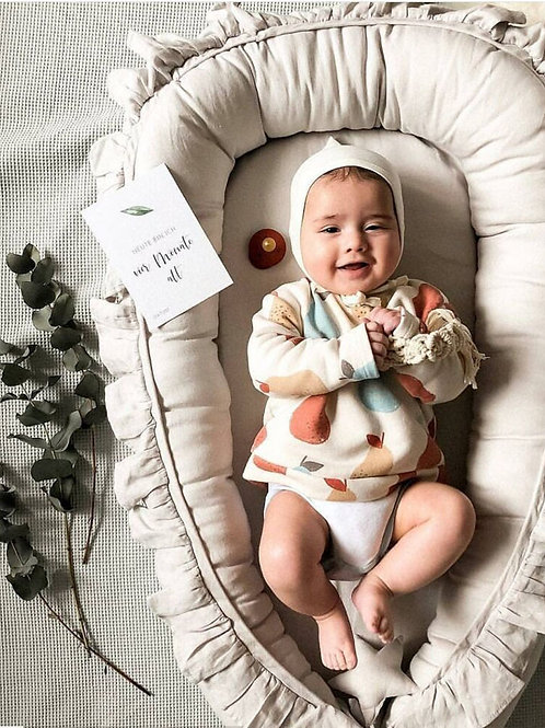 95x60cm Portable Baby Crib Infant Cradle Cot Newborn Nursery Travel Folding