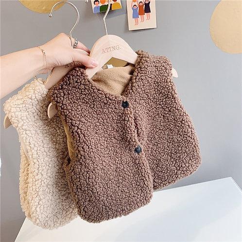 Free Shipping Winter Kid Vest Fur Children Jacket Sleeveless Baby Toddler