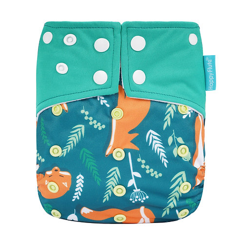 HappyFlute Cloth Diaper Suede Cloth Inner With 1pc Insert Baby Nappy Waterproof