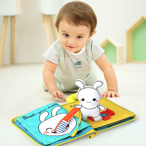 3D Soft Cloth Baby Books Animals&Vehicle Montessori Baby Toys for Toddlers