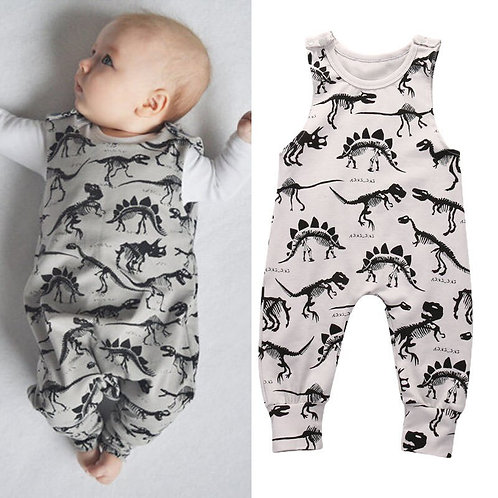 0-18Months Dinosaur Printed Rompers for New Born Infant