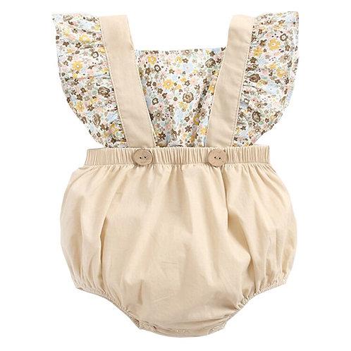 Baby Girl Romper 0-3y Spring Newborn Baby Clothes for Girls Flutter Sleeve Kids
