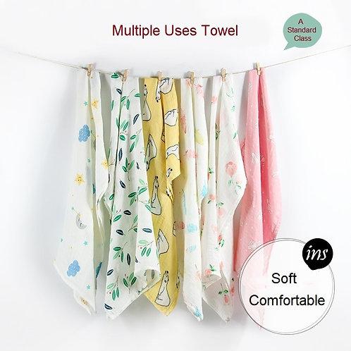 Newborn Blankets Bamboo Bath Baby Swaddle Kid Muslin Organic Cotton Fabric Super