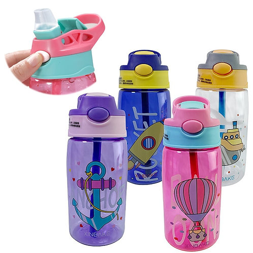 Kids Water Sippy Cup Creative Cartoon Baby Feeding Cups With Straws Leakproof