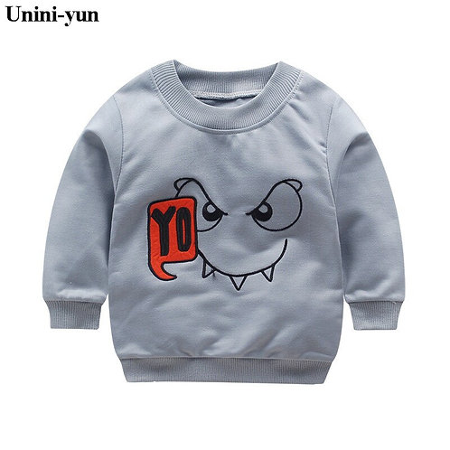 2018 Spring Boys Girls Sweatshirts for 12m-6Years Baby Children Clothes Cotton