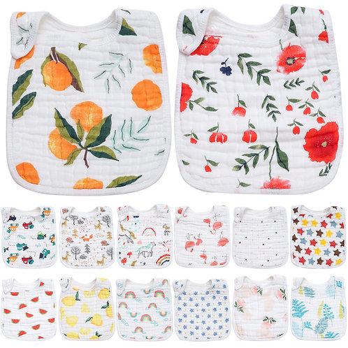 Fashionable Cotton Baby Bibs Newbron Burp Cloth Toddler Kids Feeding Apron