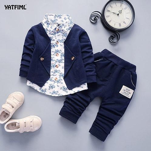 YATFIML Baby Clothes Boys Suits for Wedding Kids British Wind Birthday