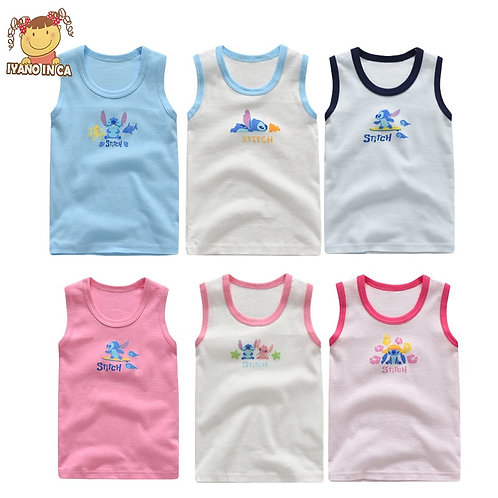 3pcs/Set Baby Tanks 100% Cotton Girls Boys Underwear Tops Summer Vest Girl