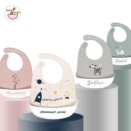 Silicone Baby Bibs Food Grade Waterproof Baby Feedings Table Ware Set