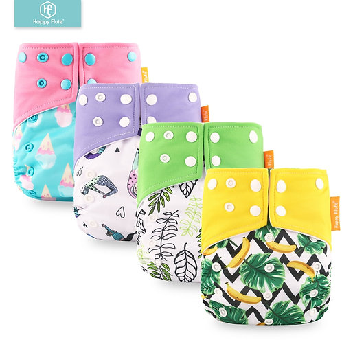 HappyFlute Pocket Diaper Baby Washable Reusable EcoFriendly Diapers Diaper Cover