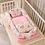 Thumbnail: Portable Baby Nest Bed With Quilt Blanket Infant Nursery Carrycot Co Sleeper Bed