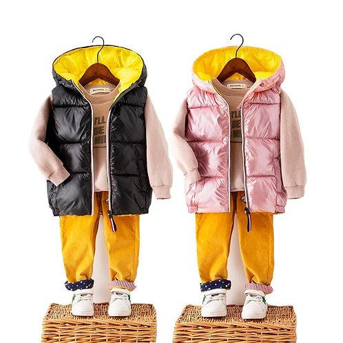 OLEKID 2020 Autumn Winter Children's Vest Hooded Waterproof Vest for Boy 2-9