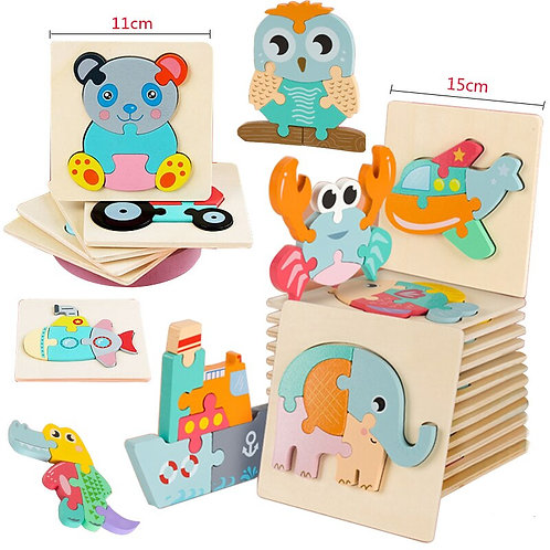 New Arrival Wooden Puzzle 3D Early Educational Toys Wooden Toys for Kid Grasp