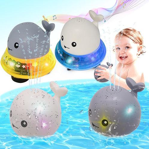 Creative Water Spray Bath Toy Whale Shape Led Light Water Spray Ball Baby Bath