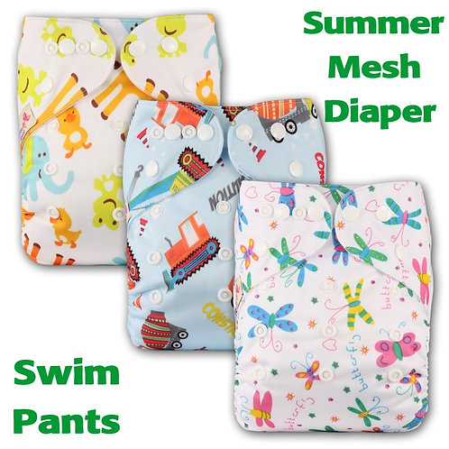 [Littles&Bloomz] Baby Washable Reusable Real Cloth Pocket Nappy Diaper Cover