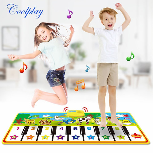 4 Styles Musical Mat With Animal Voice Baby Piano Playing Carpet Music Game
