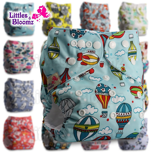 [Littles&Bloomz] Baby Washable Reusable Cloth Pocket Nappy DiaperSelect A1/B1/C1