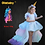 Thumbnail: Christmas Girls Unicorn Dress With Long Tail + Wings Wig Hairband Baby Girl